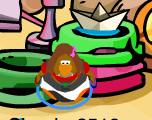 in green puffle bowl