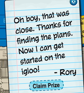 rory's message