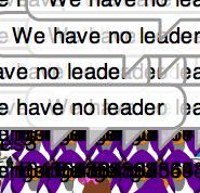 crazy,we have no leader people