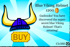 blue viking helmet!1,200 coins,I have em' both
