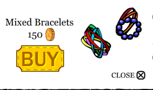 mixed bracelets,cheap,150 coins!